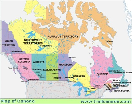canadas provinces be able to name and locate the provinces and major cities